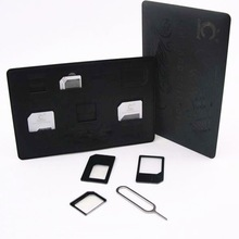 4 in 1 Nano/Micro /Stander Sim Card Hot Selling Usb Adapter For Pcmcia Card for all Cellphone