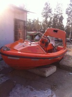 6person used marine FRP rescue boat for sale