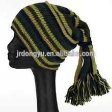 slouch beanie fleece lined tassel hat