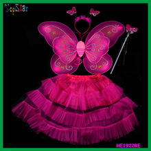 Free Shipping Child Performance Props Butterfly Wings Skirt Set