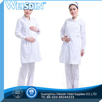 OEM service women's/man's soft white bleached fabric for nurse