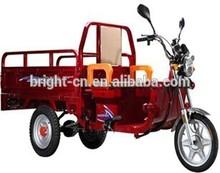 Bajaj three wheel closed driving cab motor tricycle with cargo box