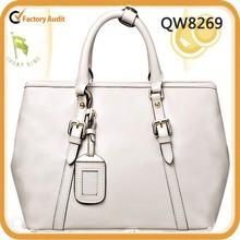 Best selling wholesale women handbag white bag for business travel