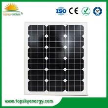 480*670*30mm Monocrystalline 40w solar panel price