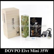 Original DOVPO E-LVT Mini ELVT E LVT 35W Box Mod Camo PK Cloupor Sigelei Mac Mini 35W