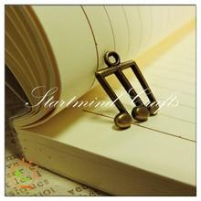 notes shape metal embellishment, vintage trinkets notes alloy charm for scrapbook