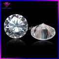 Rodada brilhante corte diamante sintético branco cz pedra solta/loose pedras de zircônia cúbica
