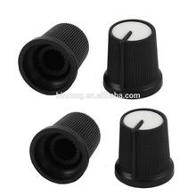 6mm Shaft CD Amplifier Volume Control Potentiometer Knob Cap