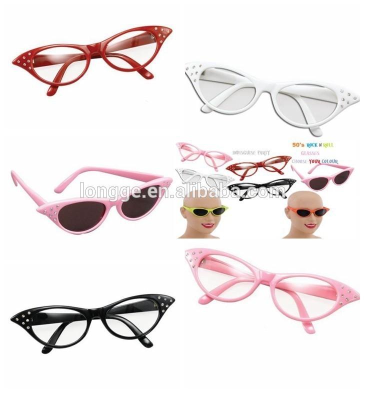 50s rosa signore occhiali con lenti colorate in maschera grasso sfumature occhiali da sole