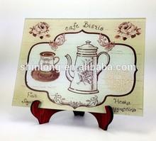 Cafe design glass cutting board