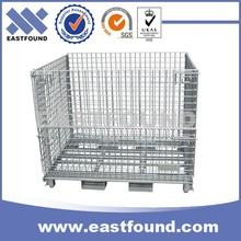 Heavy Duty Galvanized Forklift Safety Cage Storage Logistics Wire Bin