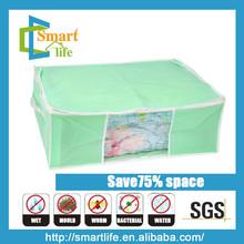 non woven economic vacuum reusable folding tote bags for bedding