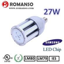CE TUV UL listed ip65 outdoor smd5630 30 watt led corn bulb 27w corn lamp