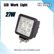 Wholesale High Performance Square work light led 12v/24v new 27w car led tuning light led work light