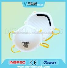 High Filter Efficiency Disposable dust mask respirator FFP2