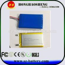 lipo 3.7v 1200mah li-polymer battery 503759 for GPS tracking battery