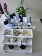 luxury white varnished lacquer handmade ratation drawer handle level house furnishing gift box jewelry saving box wooden box