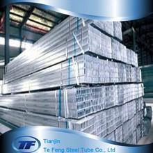 80*200*12mm galvanized/hot dipped galvanized square/rectangular steel tube/pipe