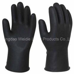 latex rubber work fishing waterproof glove(PWD31BB009)