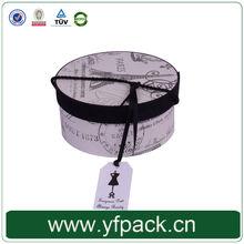 Any size custom cardboard tube rope handle round gift box
