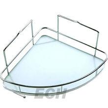 Stainless steel GHY-8976 glass corner shower shelves