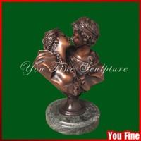 Kissing Men And Women Erotic Bust Sculpture