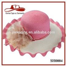 Women's Wave Wide Brim Summer Beach Sun Hat Wholesale Straw Hats