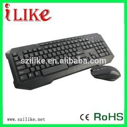 Flat new design wireless keyboard with computer wireless mouse set KWB200