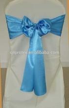2015 hot sale wedding chair cover satin sash