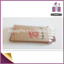 6pcs cardboard packed standard wooden color pencil/pencils wholesale