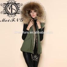 nuovo design gilet di pelliccia di coniglio volpe e combinare volpe gilet gilet di pelliccia maglia