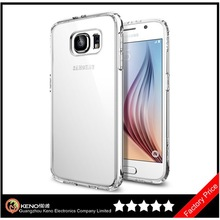 Keno Ultra Hybrid Space Crystal Scratch Resistant Bumper Case with Clear Back Panel for Samsung Galaxy S6