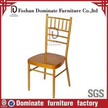 Gold Iron tubular chiavari banquet chairs for wedding
