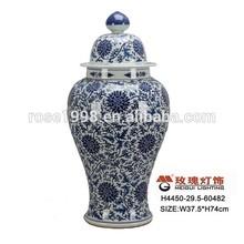 handmade porcelain blue and white vase