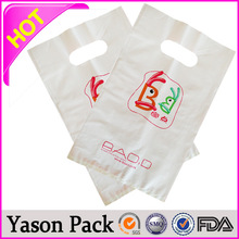 Yason disposable backpack plastic with die cut handle print plastic