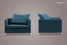 Solid fabric sofa