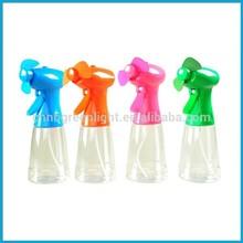 2015 New plastic handheld bottle water mist spray misting fan