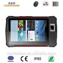 rugged fingerprint tablet 13.56Mhz rfid reader android pda barcode laser scanner(A370)