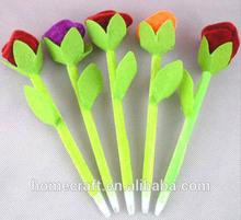 Cheap promotional Valentine rose flower pen