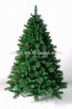 2015 6FT/180cm PVC&PET Custom Made Mixed Tips Green Artificial Christmas Tree