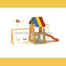 POP Guangzhou safe Wooden Theme indoor playground for home