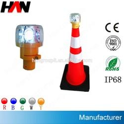 solar traffic barricade flashing light led with IP66