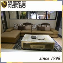 Hotel furniture teak furniture leather sofa AV072