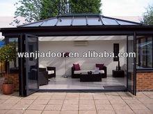 glass sun room with folding door design (WJ-SR-1502)