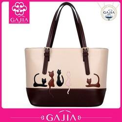 China Manufacturer PU leather bags animal handbag online shopping