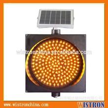 LED solar flashing traffic warning light