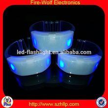 Osaka Hot Sell Event Promotion Items Yiwu Radio Control sound led wristband silicone
