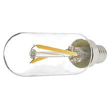 LED Vintage Light Bulb - T8 Shape - Radio Style Candelabra LED Bulb with Filament LED