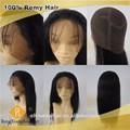 Baratos cabelo real 100% humano remy reta cheia do laço peruca de cabelo natural