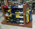 Nueva ropa estante de la tienda accesorios, t- shirt soporte de exhibición, t- shirt estante de exhibición